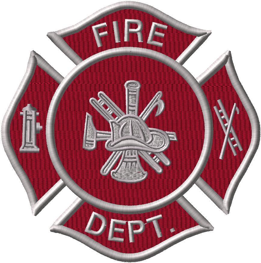 Fire Dept. Logo - Applique
